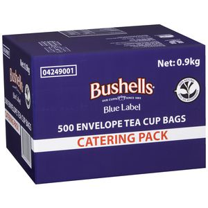 Bushells Blue Label Envelope Tea Cup Bags Pack/500 -0